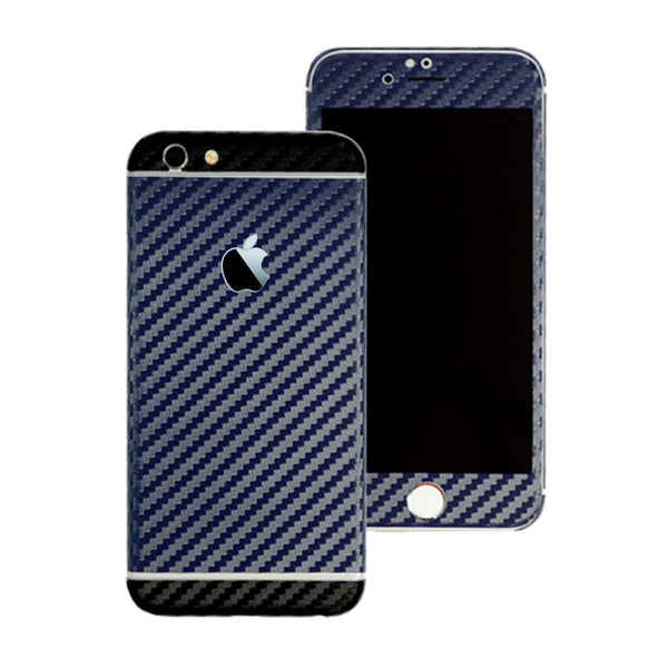 iPhone 6 Two Tone Navy Blue and Black Carbon Fibre Skin Sticker Wrap Cover Decal Protector by EasySkinz