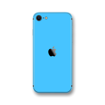 iPhone SE (2020) Blue Matt Skin Wrap Sticker Decal Cover Protector by EasySkinz
