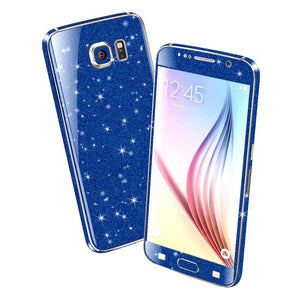 Samsung Galaxy S6 DIAMOND BLUE Shimmering Sparkling Glitter Skin Wrap Sticker Cover Decal Protector by EasySkinz