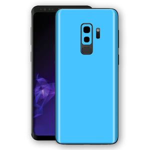 Samsung GALAXY S9+ PLUS BLUE MATT Skin, Decal, Wrap, Protector, Cover by EasySkinz | EasySkinz.com