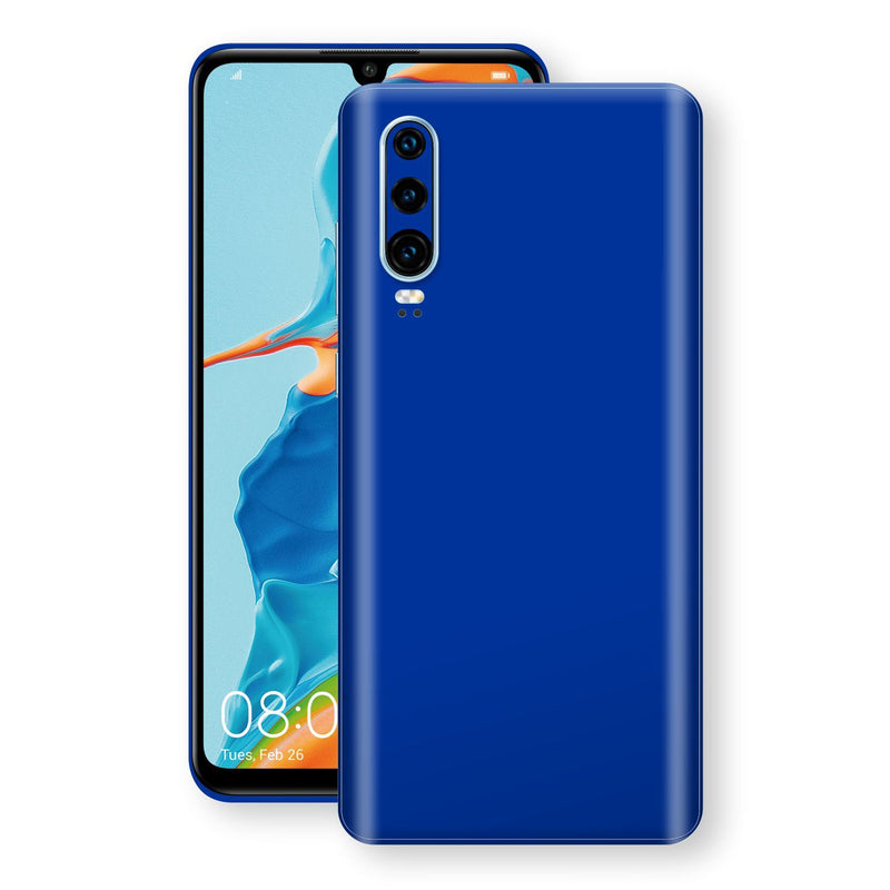Huawei P30 Royal Blue Glossy Gloss Finish Skin, Decal, Wrap, Protector, Cover by EasySkinz | EasySkinz.com