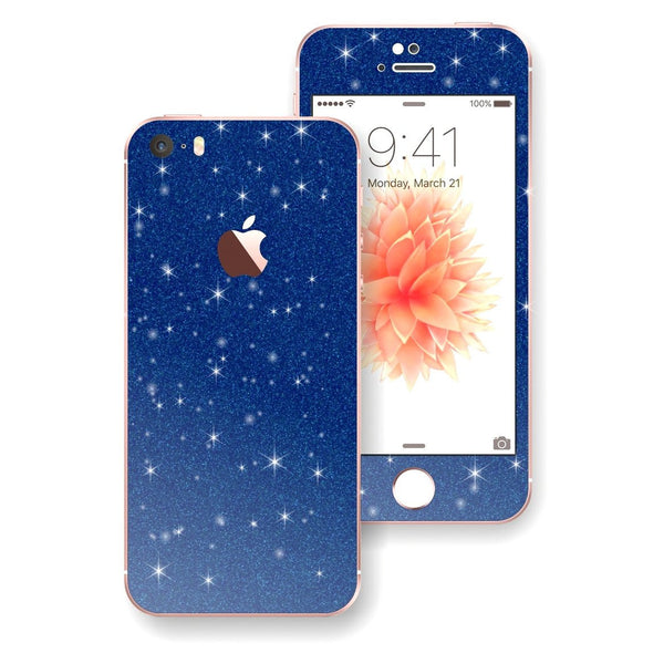 iPhone SE Diamond Blue Skin Wrap Decal Sticker Protector Cover by EasySkinz