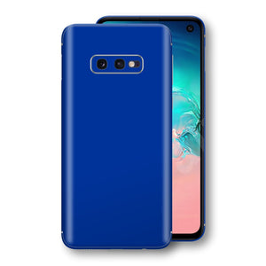 Samsung Galaxy S10e Royal Blue Glossy Gloss Finish Skin, Decal, Wrap, Protector, Cover by EasySkinz | EasySkinz.com