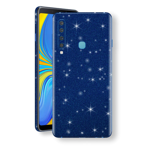 Samsung Galaxy A9 (2018) Diamond Blue Shimmering, Sparkling, Glitter Skin, Decal, Wrap, Protector, Cover by EasySkinz | EasySkinz.com