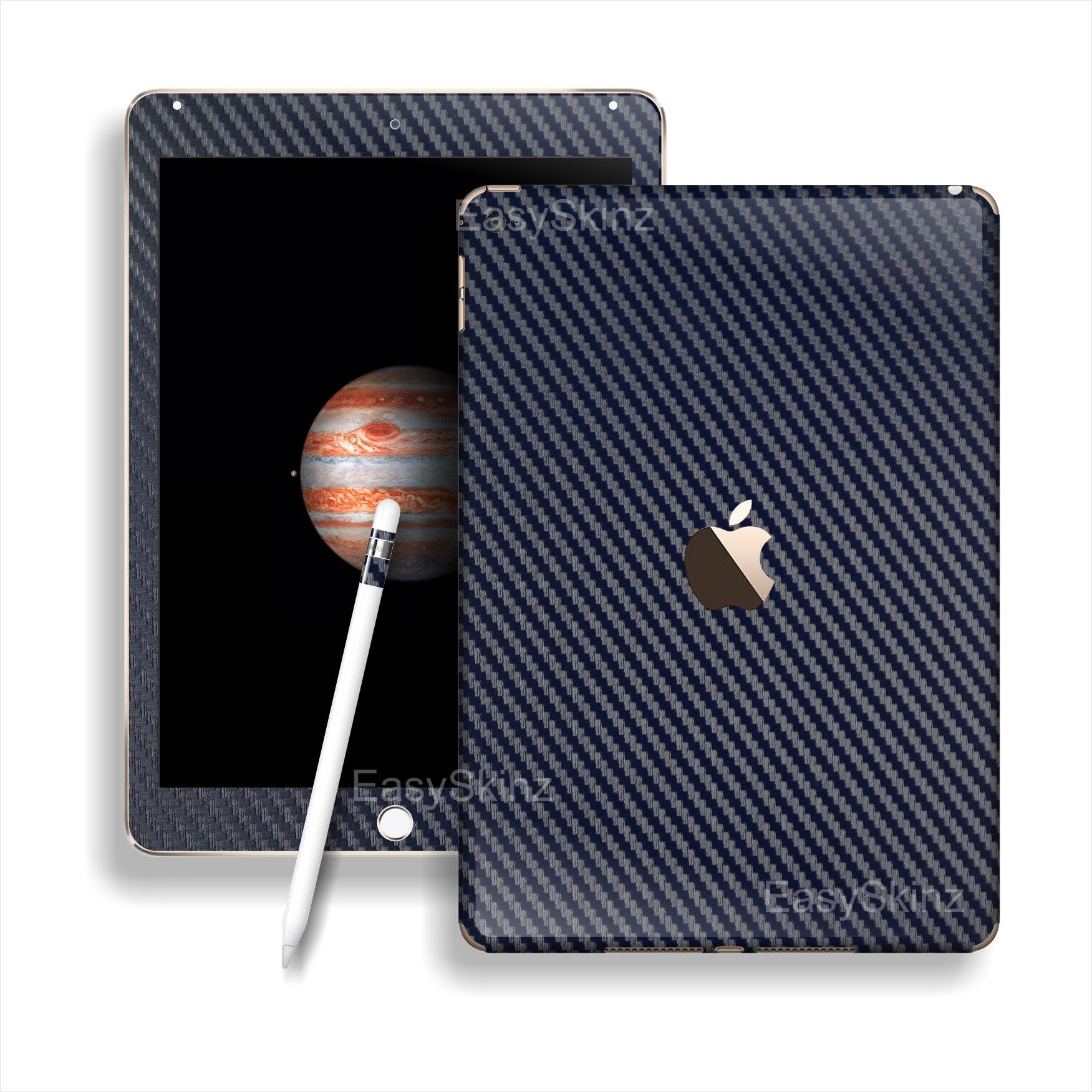 iPad PRO 3D Textured NAVY BLUE CARBON Fibre Fiber Skin Wrap Sticker Decal Cover Protector by EasySkinz