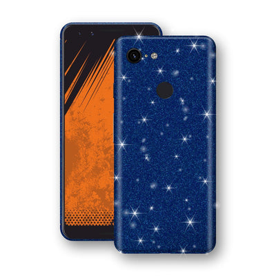 Google Pixel 3 Diamond Blue Shimmering, Sparkling, Glitter Skin, Decal, Wrap, Protector, Cover by EasySkinz | EasySkinz.com