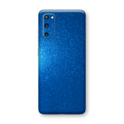 Samsung Galaxy S20 Diamond BLUE Shimmering, Sparkling, Glitter Skin Wrap Sticker Decal Cover Protector by EasySkinz