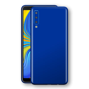 Samsung Galaxy A7 (2018) Royal Blue Glossy Gloss Finish Skin, Decal, Wrap, Protector, Cover by EasySkinz | EasySkinz.com