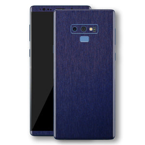 Samsung Galaxy NOTE 9 Brushed Blue Metallic Metal Skin, Decal, Wrap, Protector, Cover by EasySkinz | EasySkinz.com