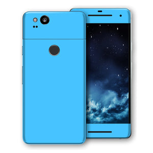 Google Pixel 2 Blue Matt Skin, Decal, Wrap, Protector, Cover by EasySkinz | EasySkinz.com