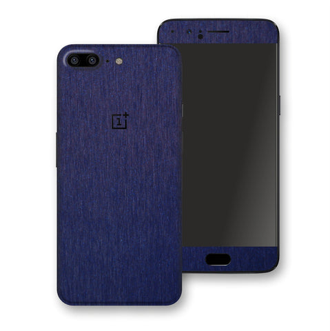 OnePlus 5 Brushed Blue Metallic Metal Skin, Decal, Wrap, Protector, Cover by EasySkinz | EasySkinz.com