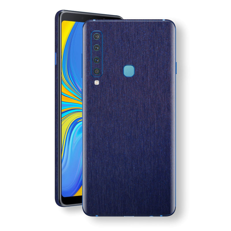 Samsung Galaxy A9 (2018) Brushed Blue Metallic Metal Skin, Decal, Wrap, Protector, Cover by EasySkinz | EasySkinz.com