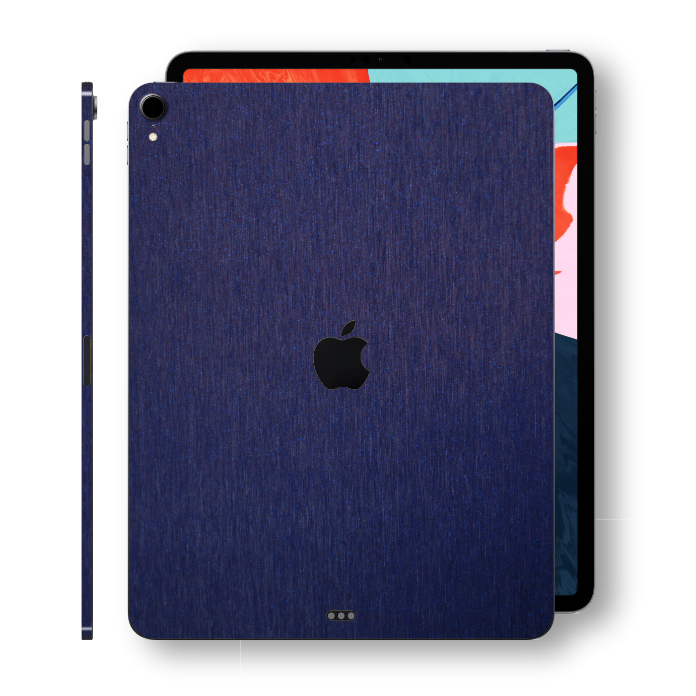 iPad PRO 11-inch 2018 3M Brushed Blue Metallic Skin Wrap Sticker Decal Cover Protector by EasySkinz