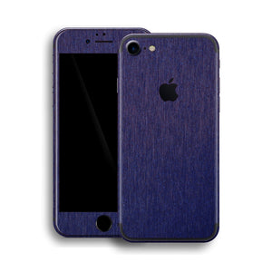 iPhone 7 Brushed Metal BLUE Metallic Skin, Wrap, Decal, Protector, Cover by EasySkinz | EasySkinz.com