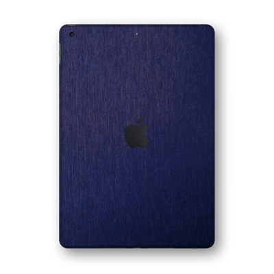 "iPad 10.2"" (8th Gen, 2020) Brushed Blue Metallic Skin Wrap Sticker Decal Cover Protector by EasySkinz"