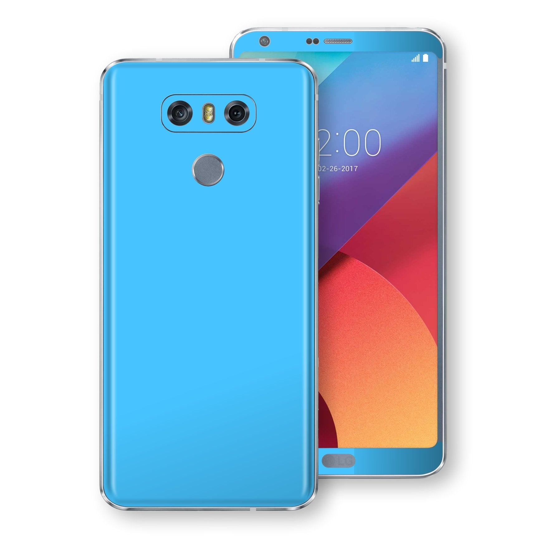 LG G6 Blue Matt Skin, Decal, Wrap, Protector, Cover by EasySkinz | EasySkinz.com