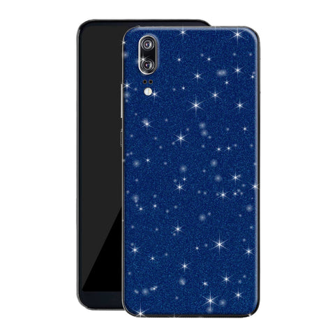 Huawei P20 Diamond Blue Shimmering, Sparkling, Glitter Skin, Decal, Wrap, Protector, Cover by EasySkinz | EasySkinz.com