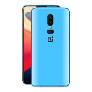 OnePlus 6 Blue Matt Skin, Decal, Wrap, Protector, Cover by EasySkinz | EasySkinz.com