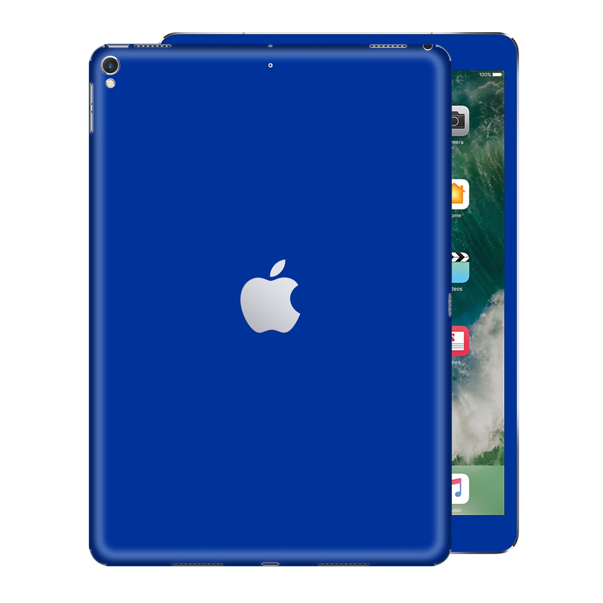 iPad PRO 10.5 inch 2017 Glossy Royal Blue Skin Wrap Sticker Decal Cover Protector by EasySkinz