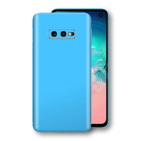 Samsung Galaxy S10e Blue Matt Skin, Decal, Wrap, Protector, Cover by EasySkinz | EasySkinz.com