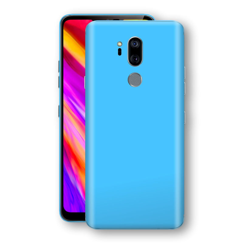 LG G7 ThinQ Blue Matt Skin, Decal, Wrap, Protector, Cover by EasySkinz | EasySkinz.com