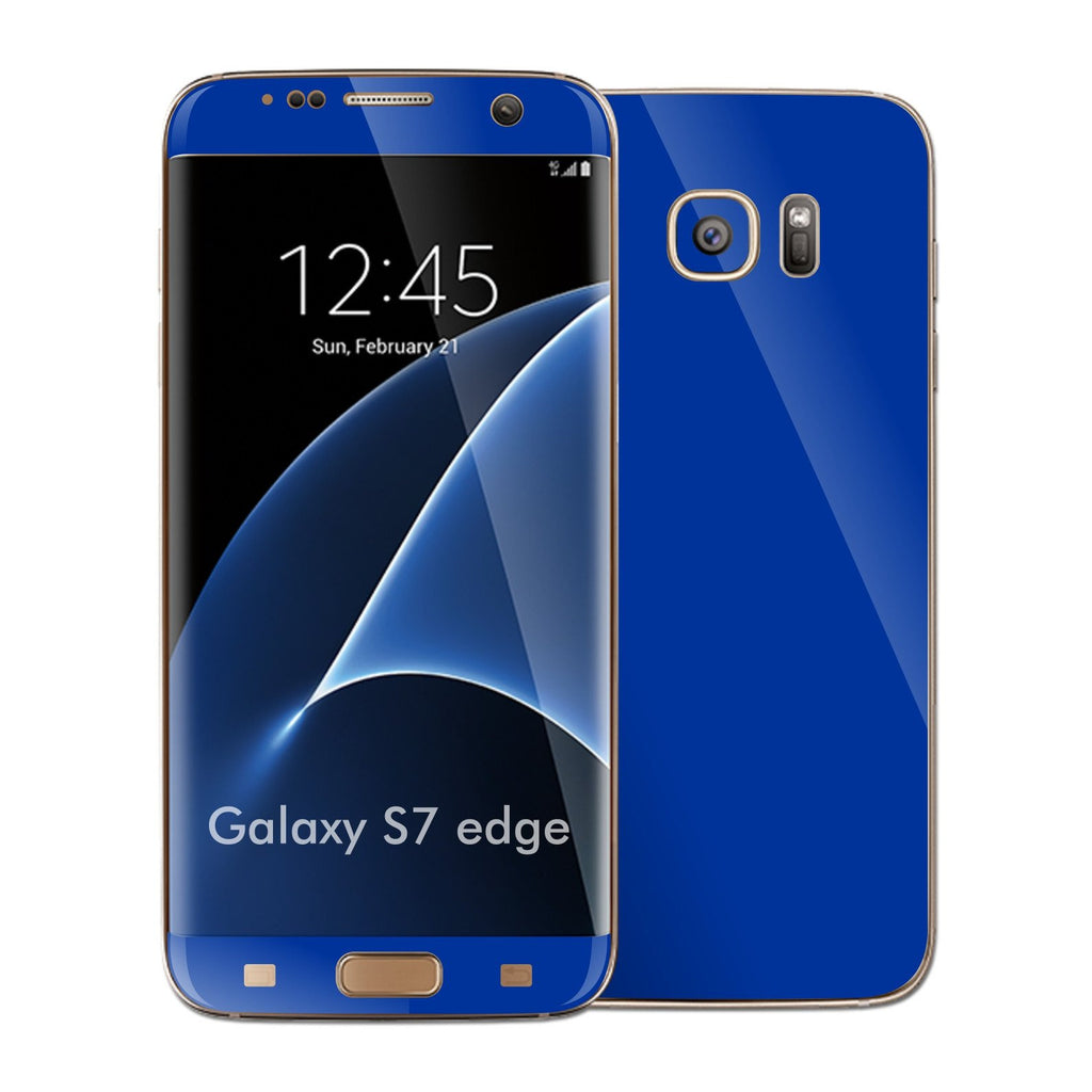 Samsung Galaxy S7 EDGE Glossy Royal BLUE Skin Wrap Decal Sticker Cover Protector by EasySkinz