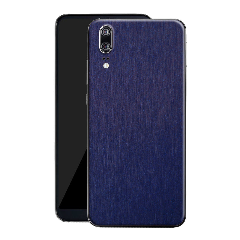 Huawei P20 Brushed Blue Metallic Metal Skin, Decal, Wrap, Protector, Cover by EasySkinz | EasySkinz.com