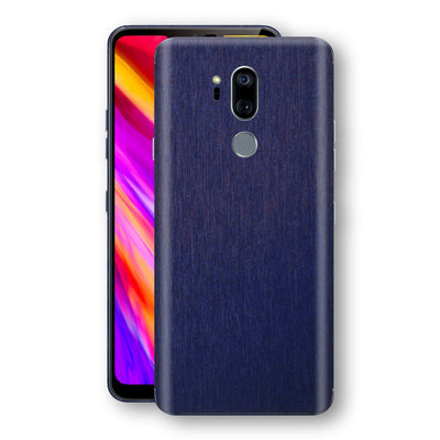 LG G7 ThinQ Brushed Blue Metallic Metal Skin, Decal, Wrap, Protector, Cover by EasySkinz | EasySkinz.com