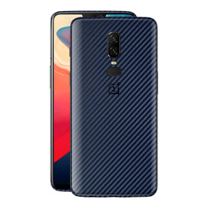 OnePlus 6 3D Textured Navy Blue Carbon Fibre Fiber Skin, Decal, Wrap, Protector, Cover by EasySkinz | EasySkinz.com