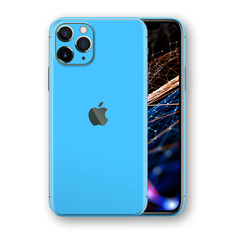 iPhone 11 PRO MAX Blue Matt Matte Skin, Wrap, Decal, Protector, Cover by EasySkinz | EasySkinz.com  Edit alt text