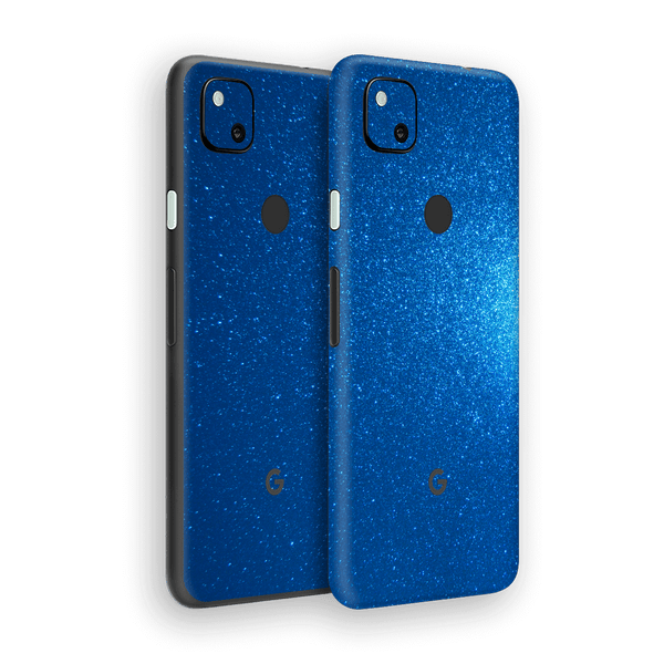 Google Pixel 4a Diamond BLUE Shimmering, Sparkling, Glitter Skin Wrap Sticker Decal Cover Protector by EasySkinz