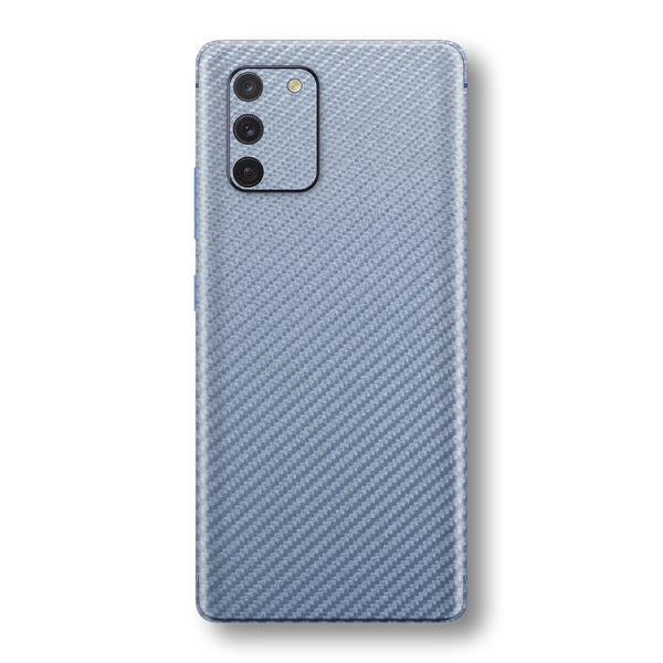 Samsung Galaxy S10 LITE 3D Textured Arctic Blue Carbon Fibre Fiber Skin Wrap Sticker Decal Cover Protector by EasySkinz