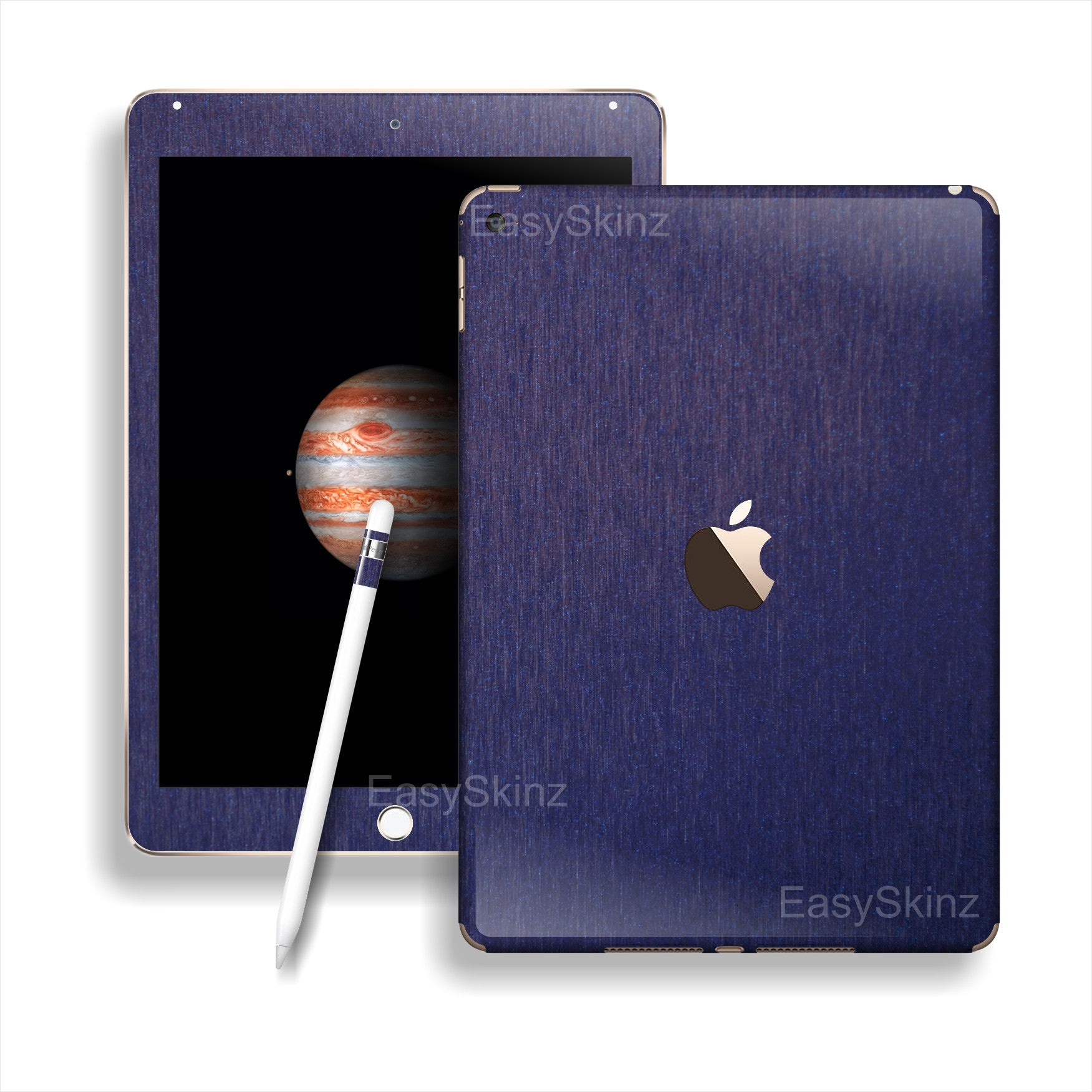 iPad PRO 3M Brushed BLUE Metallic Skin Wrap Sticker Decal Cover Protector by EasySkinz