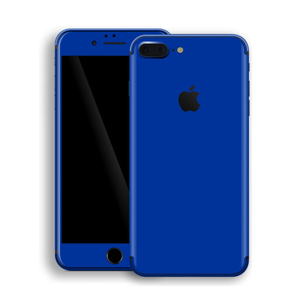 iPhone 8 Plus Royal Blue Glossy Gloss Finish Skin, Decal, Wrap, Protector, Cover by EasySkinz | EasySkinz.com