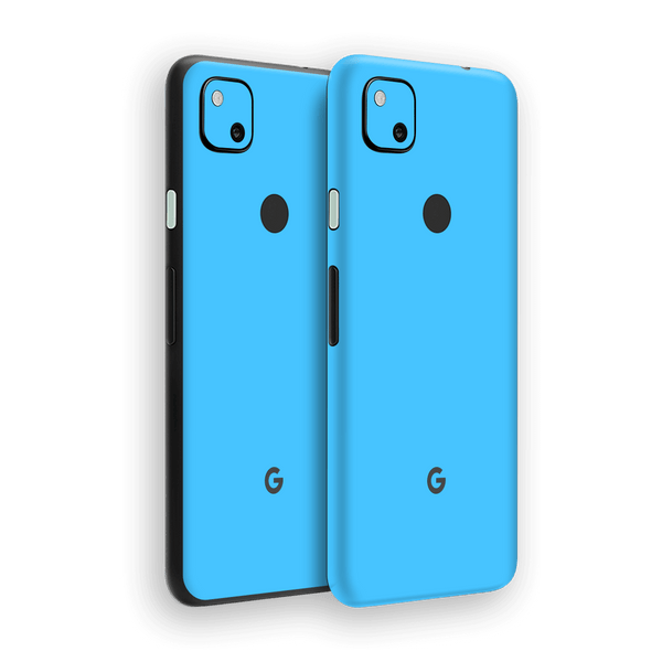 Google Pixel 4a Blue Matt Skin Wrap Sticker Decal Cover Protector by EasySkinz