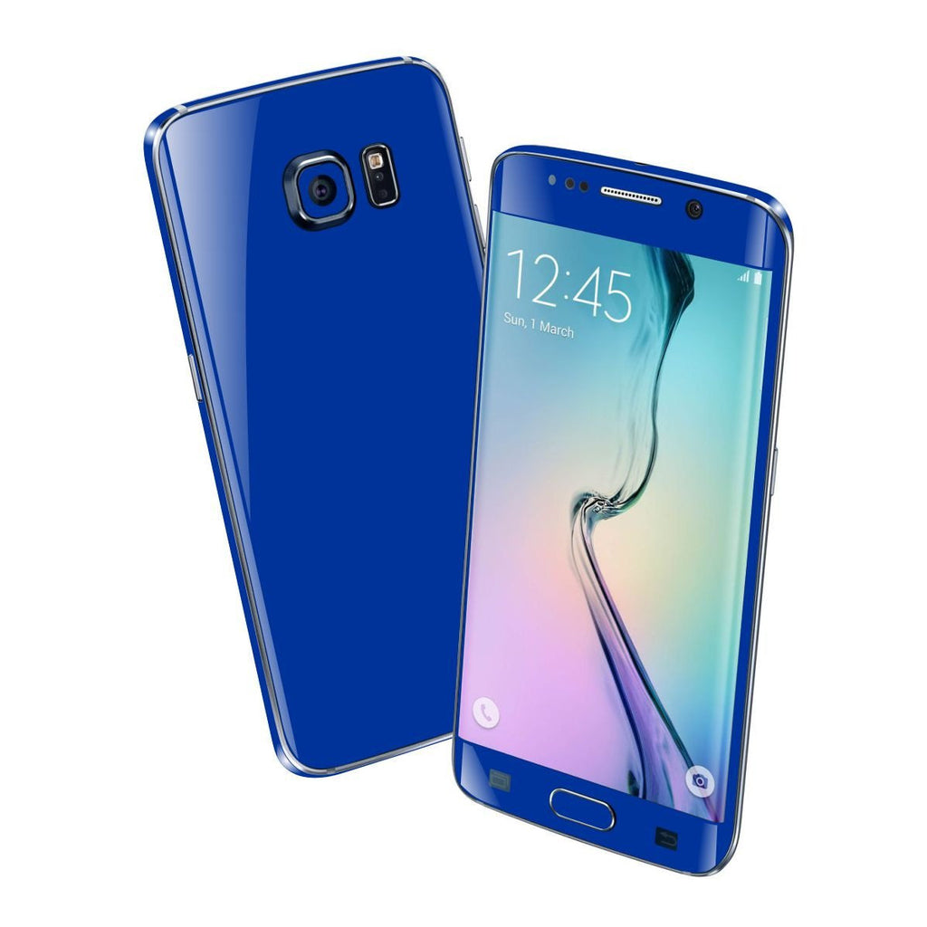 Samsung Galaxy S6 EDGE+ PLUS Colorful GLOSS GLOSSY Royal Blue Skin Wrap Sticker Cover Protector Decal by EasySkinz