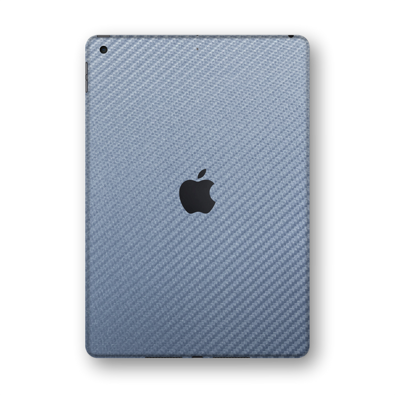 "iPad 10.2""  Arctic Blue 3D Textured CARBON Fibre Fiber Skin Wrap Sticker Decal Cover Protector by EasySkinz"