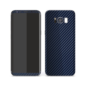 Samsung Galaxy S8+ 3D Textured Navy Blue Carbon Fibre Fiber Skin, Decal, Wrap, Protector, Cover by EasySkinz | EasySkinz.com