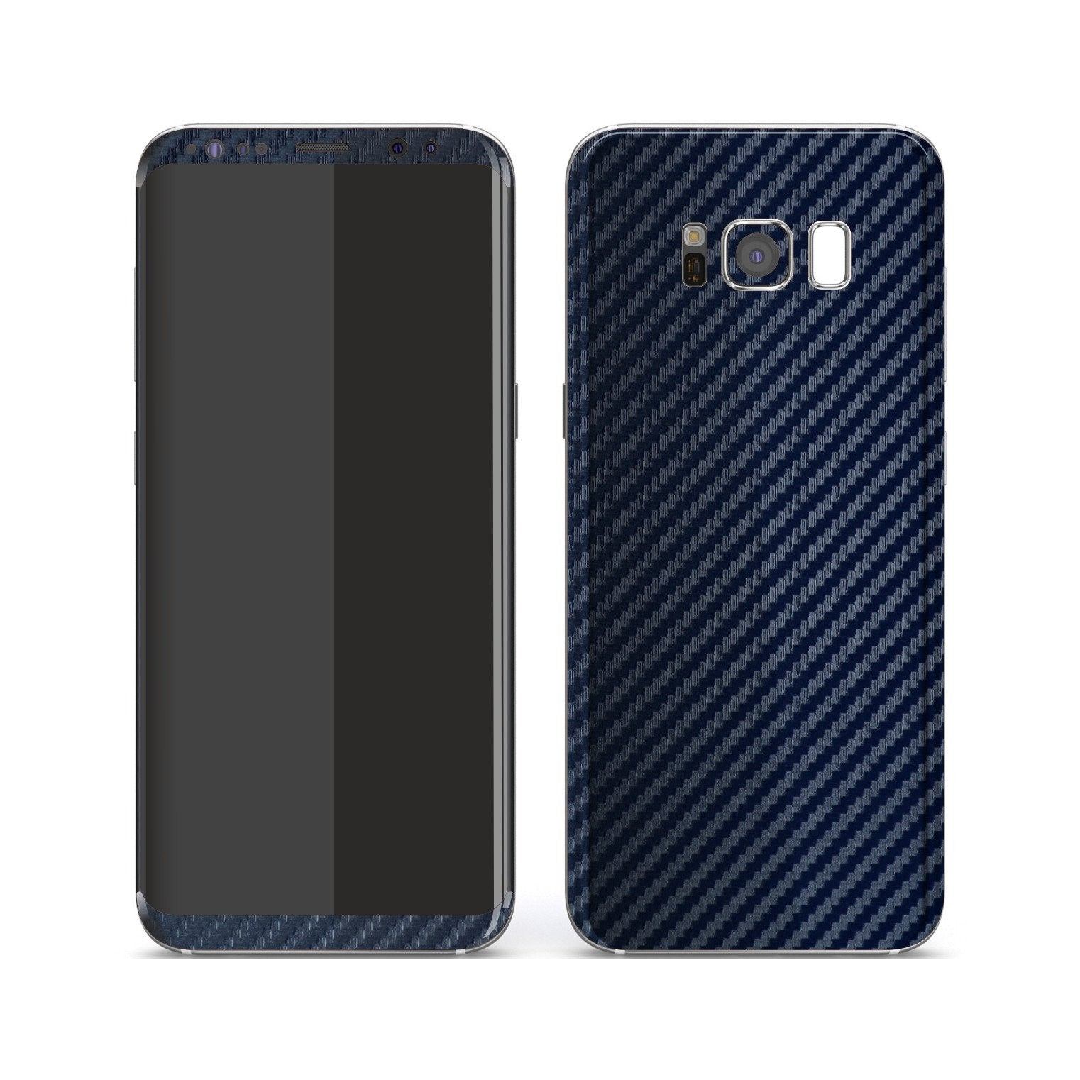 competitive price 92d51 f00e0 Samsung Galaxy S8 3D Textured CARBON Fibre Skin - Navy Blue