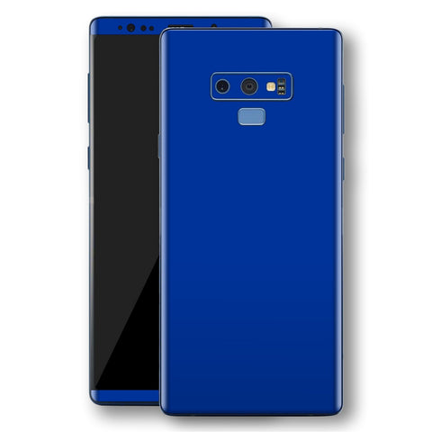 Samsung Galaxy NOTE 9 Royal Blue Glossy Gloss Finish Skin, Decal, Wrap, Protector, Cover by EasySkinz | EasySkinz.com