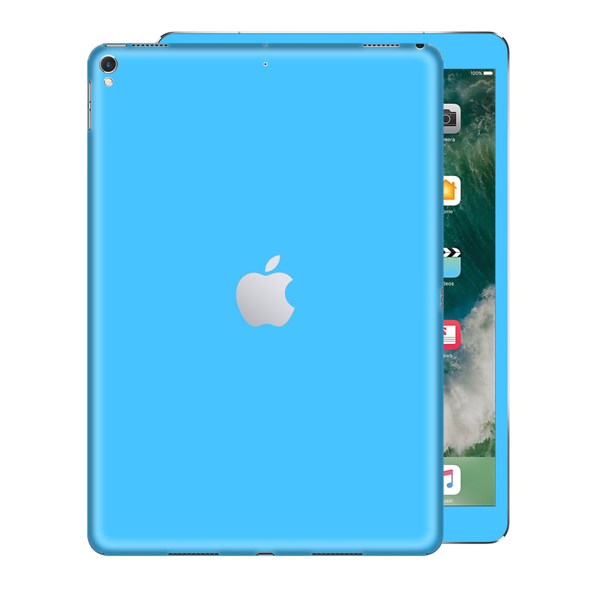 iPad PRO 12.9 inch 2017 Matt Matte Blue Skin Wrap Sticker Decal Cover Protector by EasySkinz