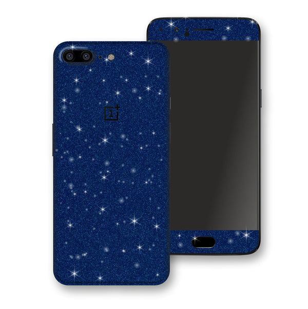 OnePlus 5 Diamond Blue Shimmering, Sparkling, Glitter Skin, Decal, Wrap, Protector, Cover by EasySkinz | EasySkinz.com