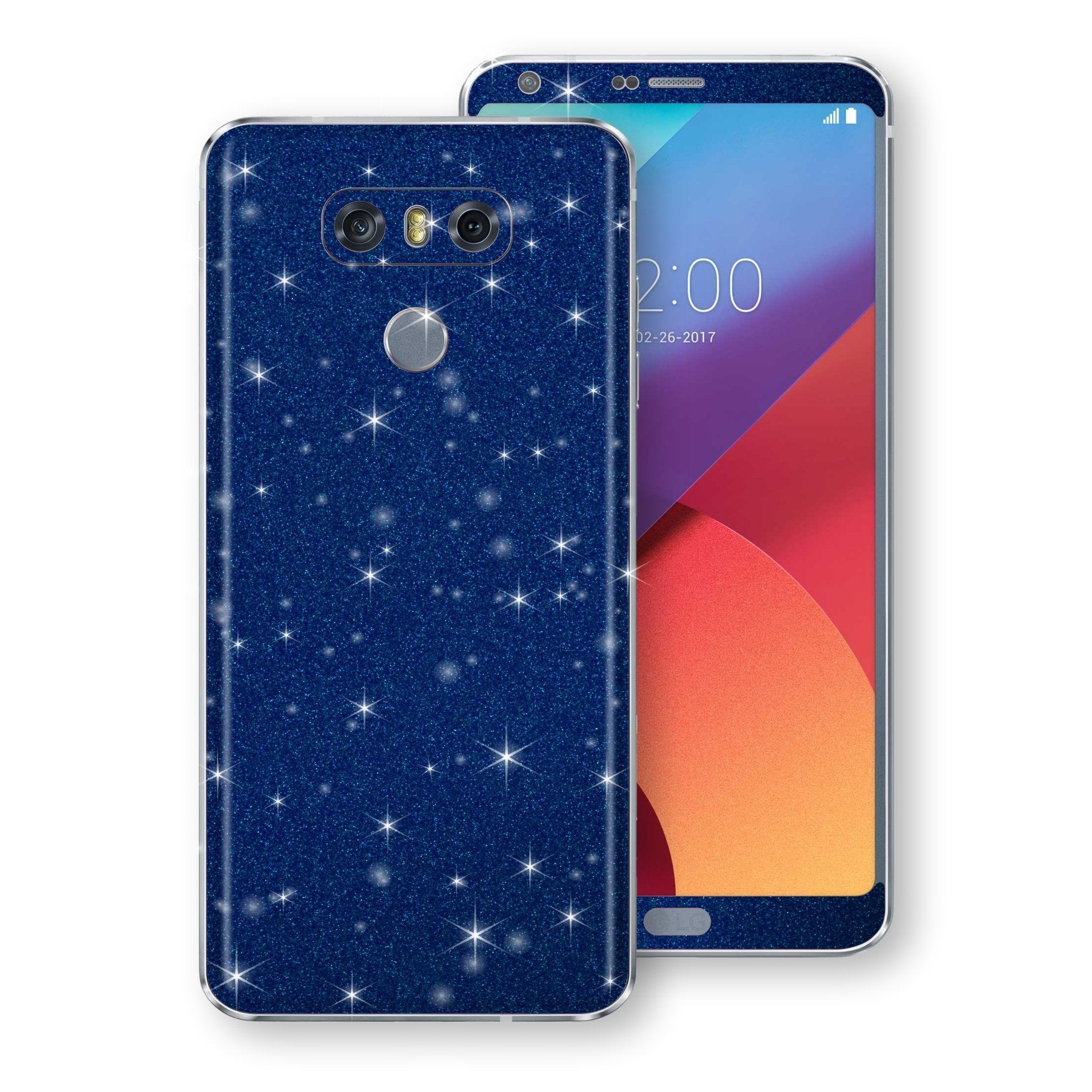 LG G6 Diamond Blue Shimmering, Sparkling, Glitter Skin, Decal, Wrap, Protector, Cover by EasySkinz | EasySkinz.com