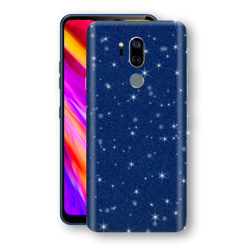 LG G7 ThinQ Diamond Blue Shimmering, Sparkling, Glitter Skin, Decal, Wrap, Protector, Cover by EasySkinz | EasySkinz.com