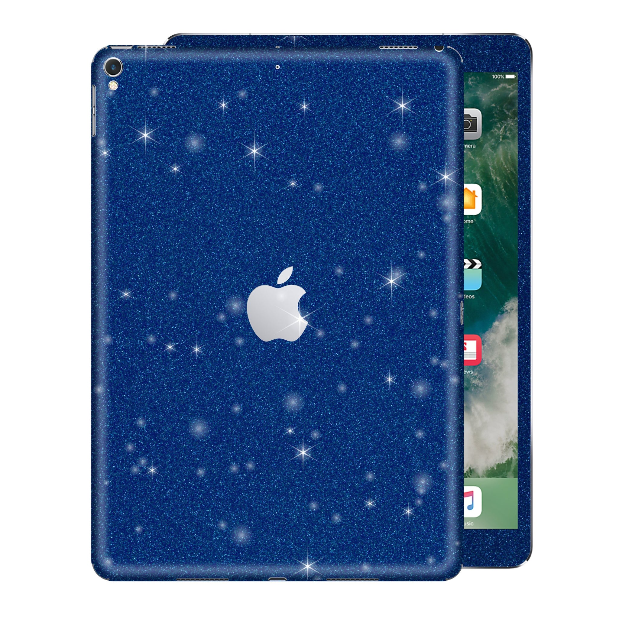 "iPad PRO 10.5"" inch 2017 Diamond BLUE Glitter Shimmering Skin Wrap Sticker Decal Cover Protector by EasySkinz"