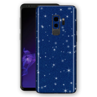 Samsung GALAXY S9+ PLUS Diamond Blue Shimmering, Sparkling, Glitter Skin, Decal, Wrap, Protector, Cover by EasySkinz | EasySkinz.com