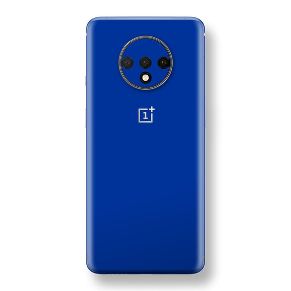 OnePlus 7T Royal Blue Glossy Gloss Finish Skin, Decal, Wrap, Protector, Cover by EasySkinz | EasySkinz.com