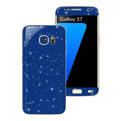 Samsung Galaxy S7 DIAMOND BLUE Skin Wrap Decal Sticker Cover Protector by EasySkinz