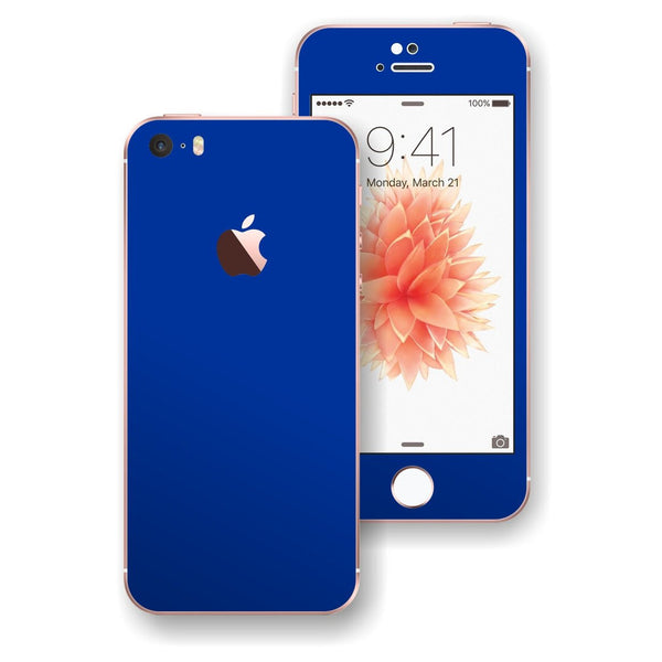 iPhone SE Glossy Royal BLUE Skin Wrap Decal Sticker Cover Protector by EasySkinz
