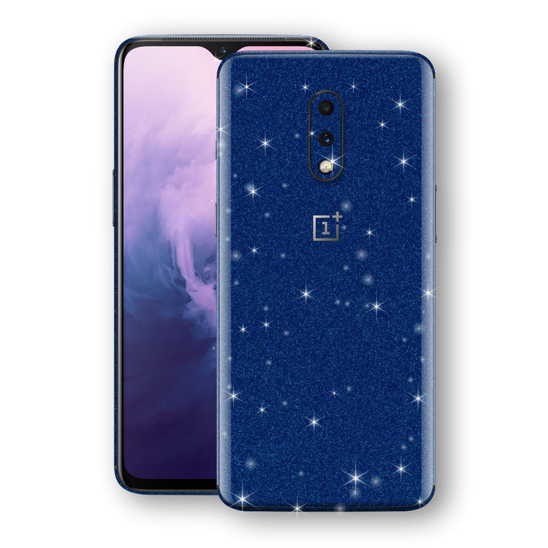 OnePlus 7 Diamond Blue Shimmering, Sparkling, Glitter Skin, Decal, Wrap, Protector, Cover by EasySkinz | EasySkinz.com